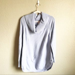 Moth by Anthropologie Cowl Neck Light Blue Sweater